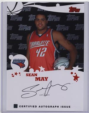 2005-06 Topps Rookie Photos Shoot Jumbo Autographs - [Base] #SEMA - Sean May