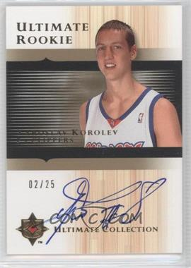 2005-06 Ultimate Collection - [Base] - Gold Autographed Rookie [Autographed] #153 - Yaroslav Korolev /25