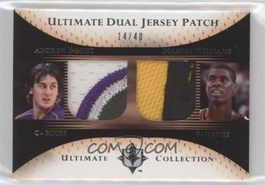 2005-06 Ultimate Collection - Ultimate Dual Jersey - Patch #DP-BW - Andrew Bogut, Marvin Williams /40