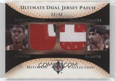 2005-06 Ultimate Collection - Ultimate Dual Jersey - Patch #DP-WS - Marvin Williams, Salim Stoudamire /40