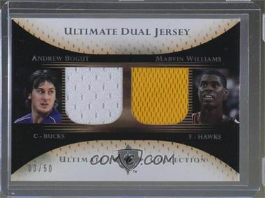 2005-06 Ultimate Collection - Ultimate Dual Jersey #DJ-BW - Andrew Bogut, Marvin Williams /50
