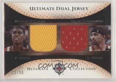 2005-06 Ultimate Collection - Ultimate Dual Jersey #DJ-WS - Marvin Williams, Salim Stoudamire /50