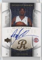 Exquisite Rookie Autograph - Amir Johnson #/225
