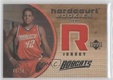 2005-06 Upper Deck Hardcourt - Hardcourt Rookies Jerseys - Gold #101-WJ - Sean May /50