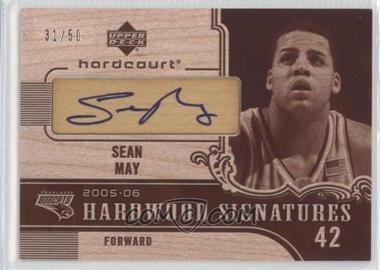 2005-06 Upper Deck Hardcourt - Hardwood Signatures - Wood #HW-SE - Sean May /50