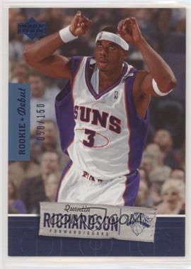 2005-06 Upper Deck Rookie Debut - [Base] - Blue #76 - Quentin Richardson /150