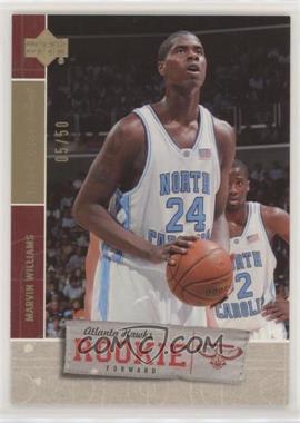 2005-06 Upper Deck Rookie Debut - [Base] - Gold #139 - Marvin Williams /50