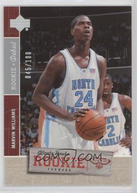 2005-06 Upper Deck Rookie Debut - [Base] - Silver #139 - Marvin Williams /100