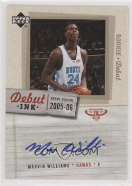 2005-06 Upper Deck Rookie Debut - Debut Ink #DI-MW - Marvin Williams