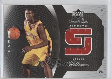 2005-06 Upper Deck Sweet Shot - Jerseys #SSJ-MW - Marvin Williams /125