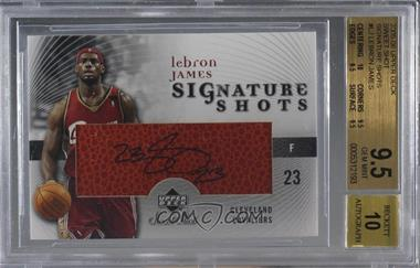 2005-06 Upper Deck Sweet Shot - Signature Shots - [Autographed] #SS-LJ - Lebron James [BGS 9.5 GEM MINT]