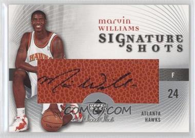 2005-06 Upper Deck Sweet Shot - Signature Shots - [Autographed] #SS-MW - Marvin Williams