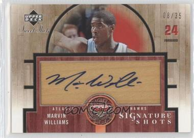 2005-06 Upper Deck Sweet Shot - Signature Shots - Wood [Autographed] #SSW-MW - Marvin Williams /35