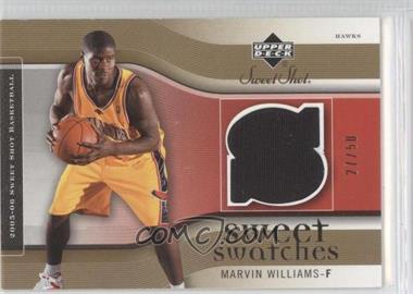 2005-06 Upper Deck Sweet Shot - Sweet Swatches - Gold #SW-MW - Marvin Williams /50