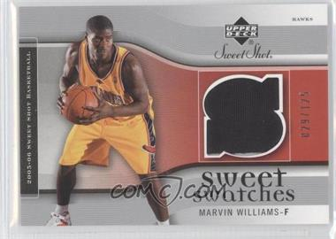 2005-06 Upper Deck Sweet Shot - Sweet Swatches #SW-MW - Marvin Williams /125