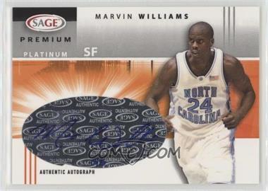 2005 SAGE - Premium Portrait Autographs - Platinum #P19 - Marvin Williams /5