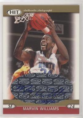 2005 SAGE Hit - Autographs - Gold #A24 - Marvin Williams /250