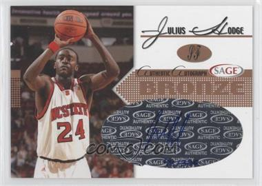 2005 Sage - Autographs - Bronze #A11 - Julius Hodge /320