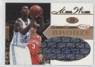 2005 Sage - Autographs - Bronze #A28 - Marvin Williams /170