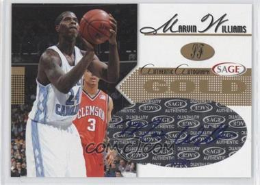 2005 Sage - Autographs - Gold #A28 - Marvin Williams /50