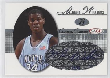 2005 Sage - Autographs - Platinum #A28 - Marvin Williams /15