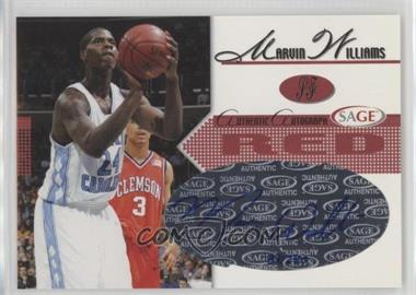 2005 Sage - Autographs - Red #A28 - Marvin Williams /250