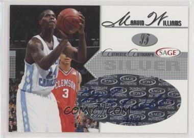 2005 Sage - Autographs - Silver #A28 - Marvin Williams /100