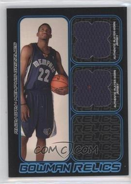 2006-07 Bowman Draft Picks & Stars - Bowman Relics - Dual #BDR-RG - Rudy Gay /249