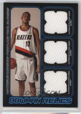 2006-07 Bowman Draft Picks & Stars - Bowman Relics - Triple #BTR-LA - LaMarcus Aldridge /50