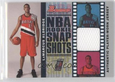 2006-07 Bowman Draft Picks & Stars - NBA Rookie Snap Shots Jerseys #RSR-LA - LaMarcus Aldridge /199