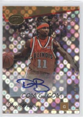 2006-07 Bowman Elevation - Rookie Writings - Gold [Autographed] #RWA-DBR - Dee Brown /59