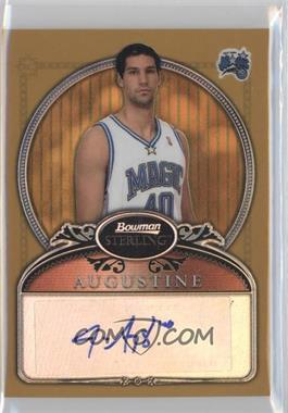 2006-07 Bowman Sterling - [Base] - Gold Refractor #89 - James Augustine /349