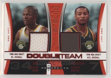 2006-07 Fleer Hot Prospects - DoubleTeam - Red Hot #DT-AL - Ray Allen, Rashard Lewis /25