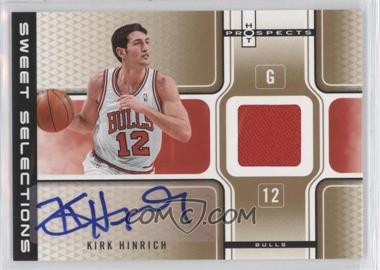 2006-07 Fleer Hot Prospects - Sweet Selections Autograph - Jersey #SSA-KH - Kirk Hinrich /25