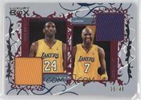 Kobe Bryant, Lamar Odom #/49