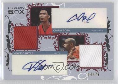 2006-07 Luxury Box - Courtside Relics Dual Autographs #CDAR-BC - Chris Bosh, Vince Carter /79