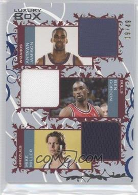 2006-07 Luxury Box - Courtside Relics Triple - Blue #CTR-JGM - Antawn Jamison, Ben Gordon, Mike Miller /49