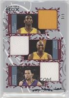 Kobe Bryant, Lamar Odom, Jordan Farmar #/9
