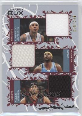 2006-07 Luxury Box - Courtside Relics Triple #CTR-ANI - Carmelo Anthony, Nene, Allen Iverson /249