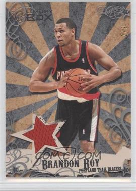 2006-07 Luxury Box - Mezzanine Relics - Silver #MR-BR - Brandon Roy /9