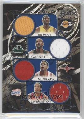 2006-07 Luxury Box - Relics Eight - Blue #LB8R-4 - Kobe Bryant, Kevin Garnett, Tracy McGrady, Amare Stoudemire, Jermaine O'Neal, Shaun Livingston, Dwight Howard, Josh Smith /49