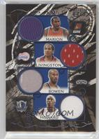 Shawn Marion, Shaun Livingston, Bruce Bowen, Josh Howard /49
