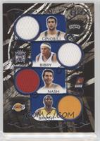 Manu Ginobili, Mike Bibby, Steve Nash, Kobe Bryant /49
