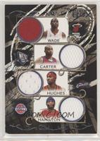 Dwyane Wade, Vince Carter, Larry Hughes, Richard Hamilton [Noted] #/199