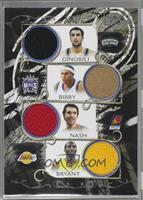 Manu Ginobili, Mike Bibby, Steve Nash, Kobe Bryant /199