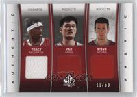 Tracy McGrady, Yao Ming, Steve Novak /50