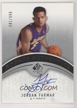 2006-07 SP Authentic - [Base] #116 - Jordan Farmar /999