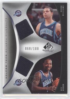 2006-07 SP Game Used Edition - Authentic Fabrics Dual Swatch #AFD-WB - Deron Williams /100