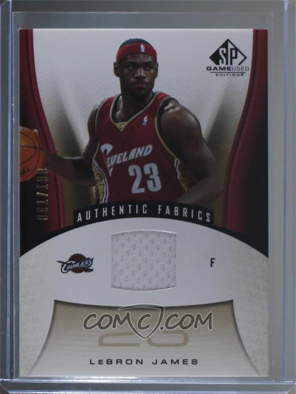 5b39a99722e18 2006-07 SP Game Used Edition -  Base  - Gold  116 - Lebron James  100