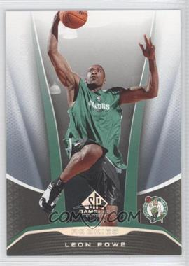 2006-07 SP Game Used Edition - [Base] - Rainbow #245 - Leon Powe /10